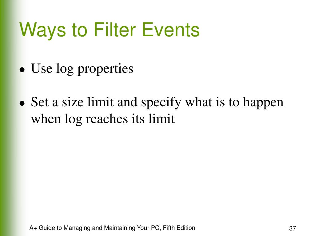 Ways to Filter Events