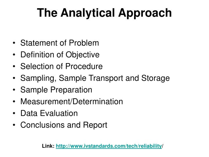 The Analytical Approach