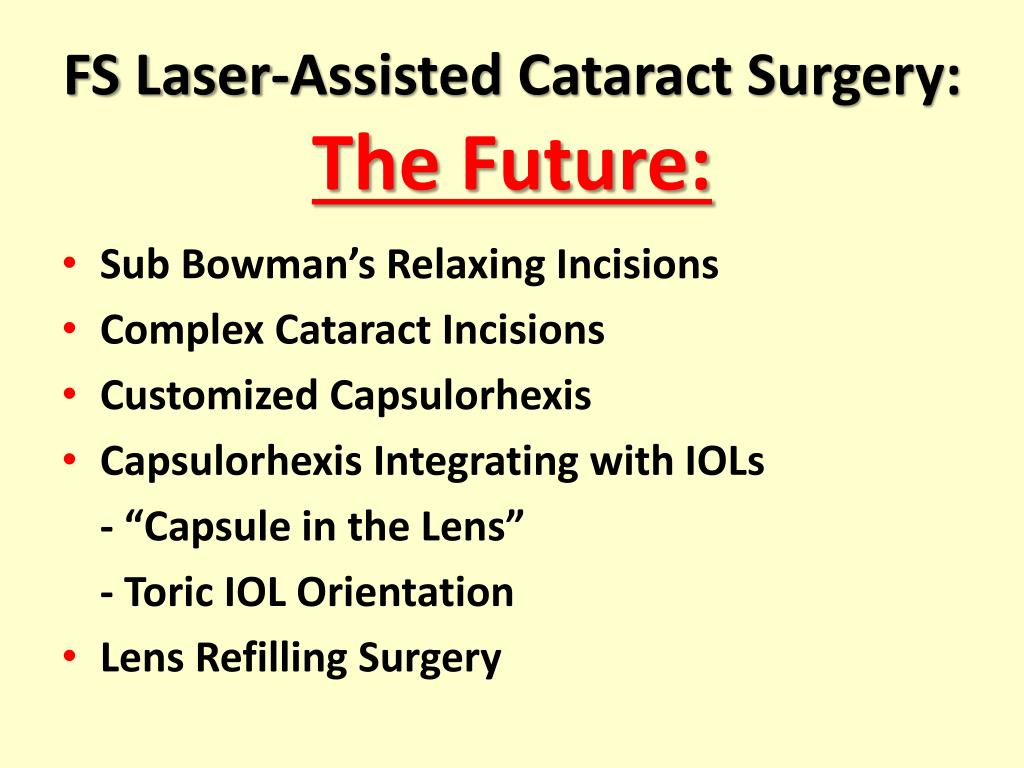 FS Laser-Assisted Cataract Surgery: