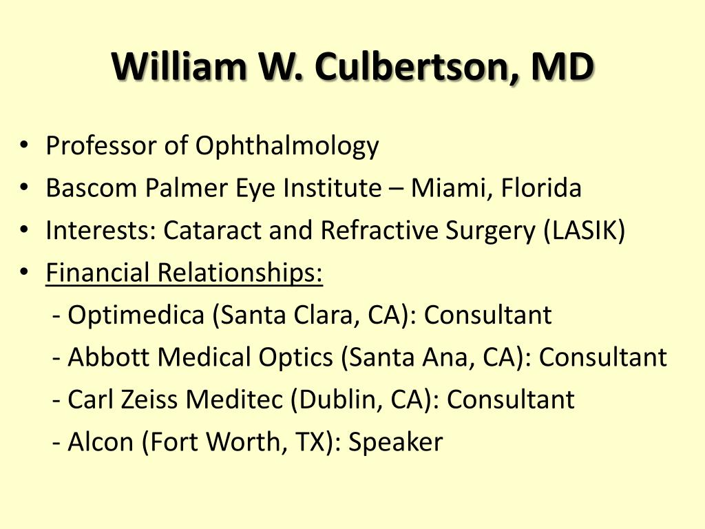 William W. Culbertson, MD