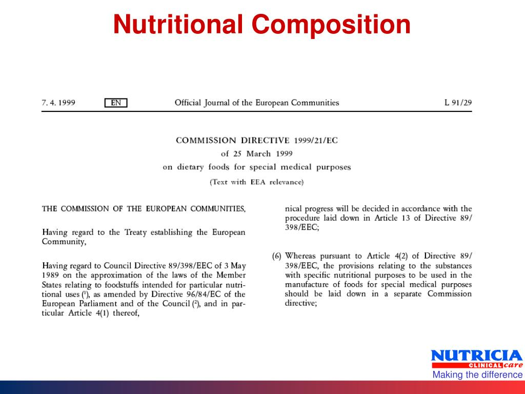 Nutritional Composition