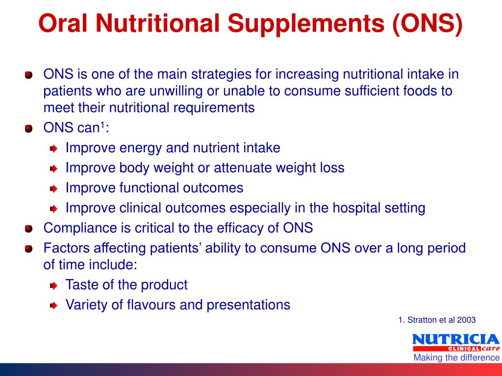Oral Nutritional Supplements (ONS)