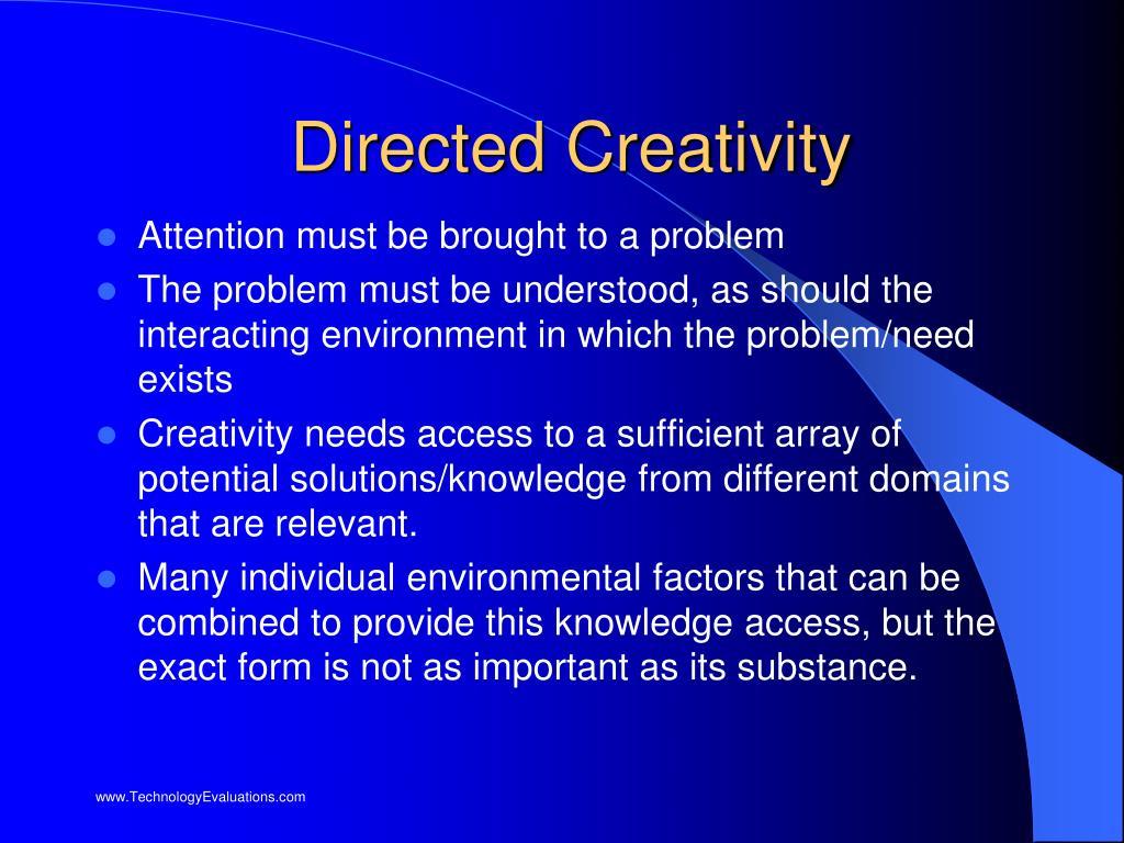 Directed Creativity