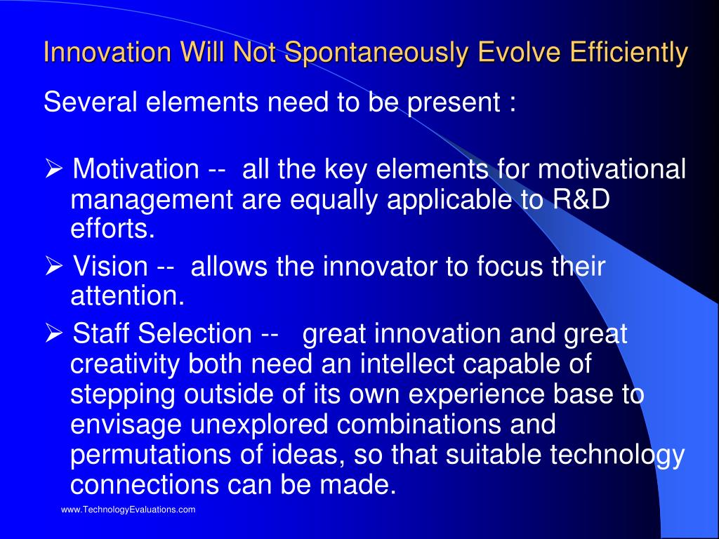 Innovation Will Not Spontaneously Evolve Efficiently