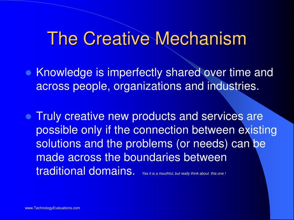 The Creative Mechanism