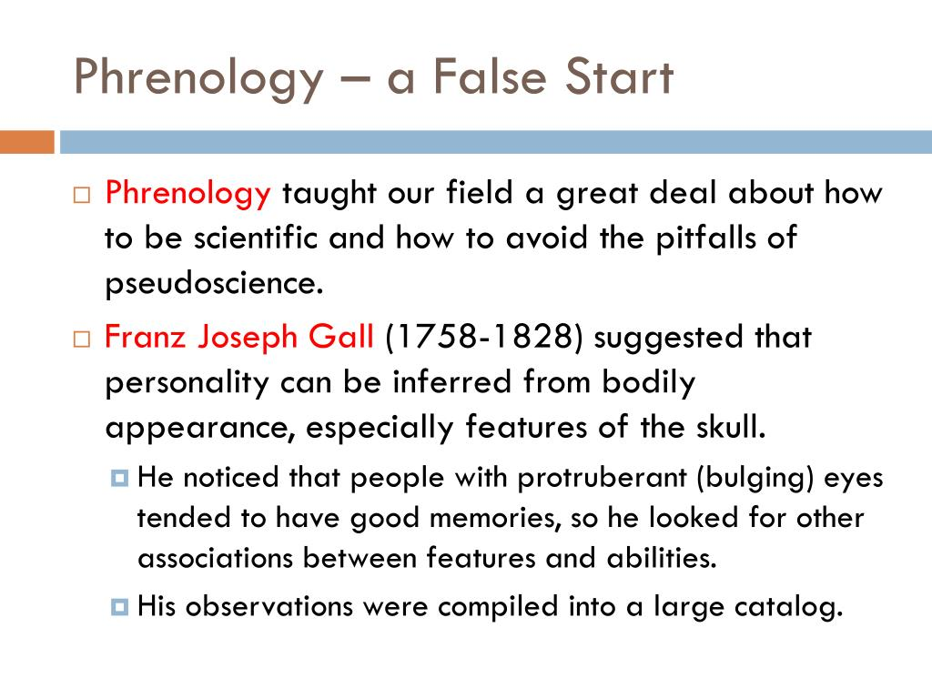 Phrenology – a False Start