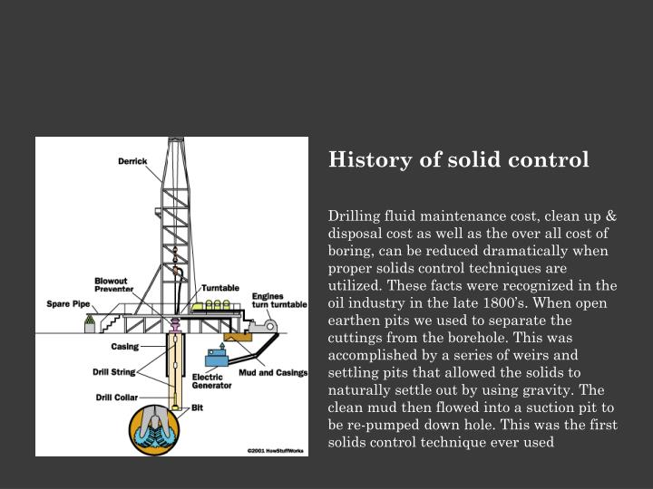 History of solid control