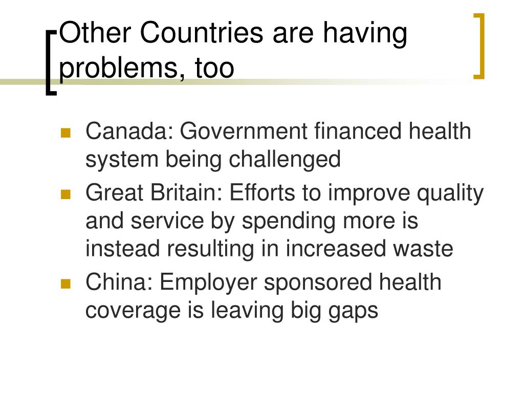 Other Countries are having problems, too