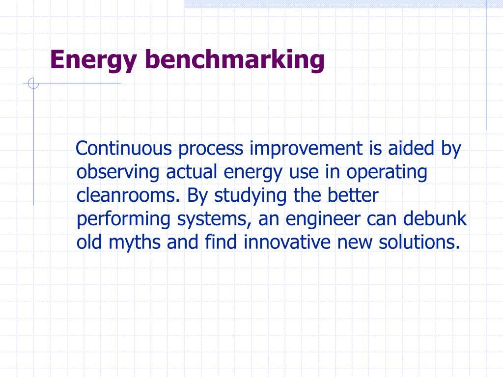 Energy benchmarking