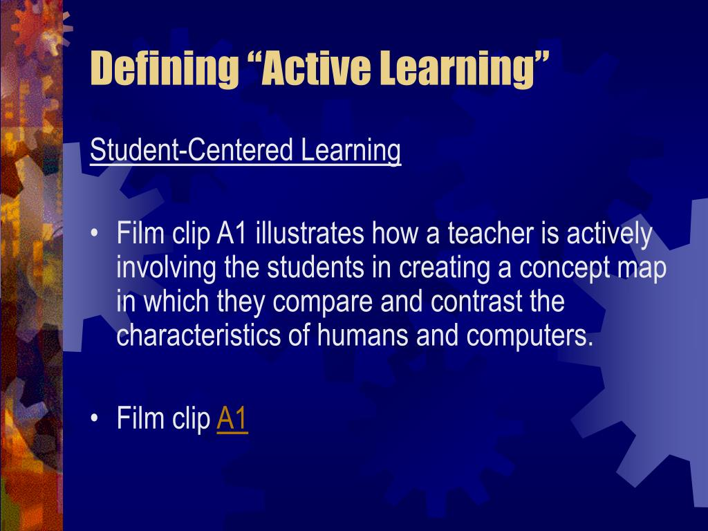 "Defining ""Active Learning"""