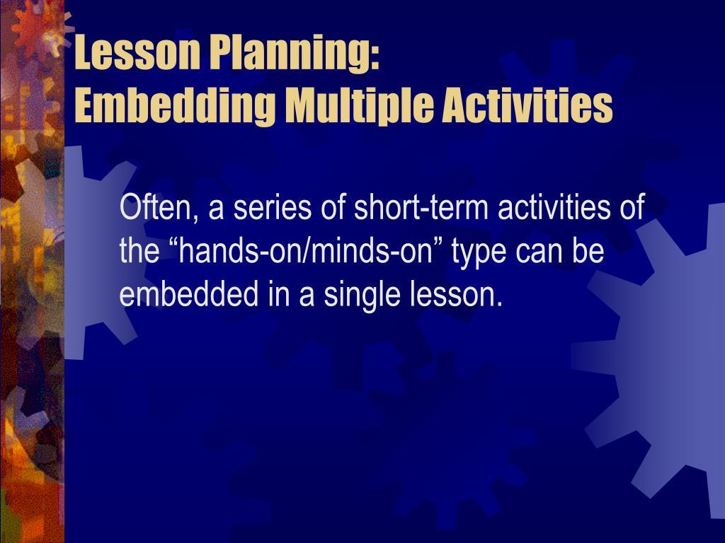Lesson Planning: