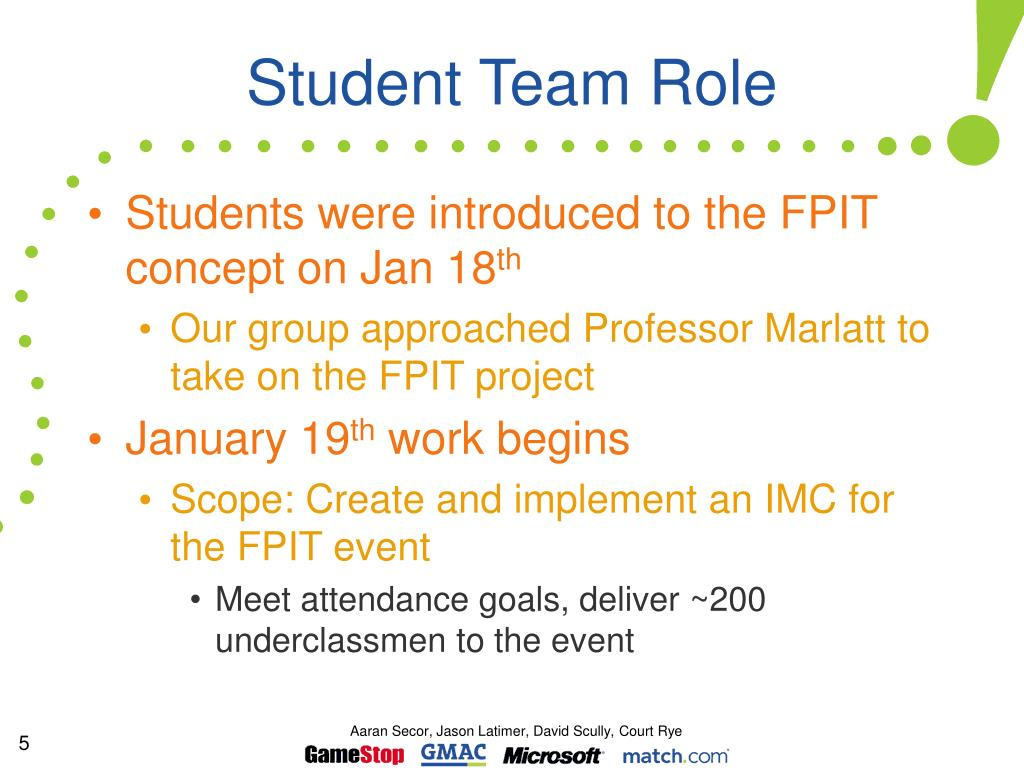 Student Team Role