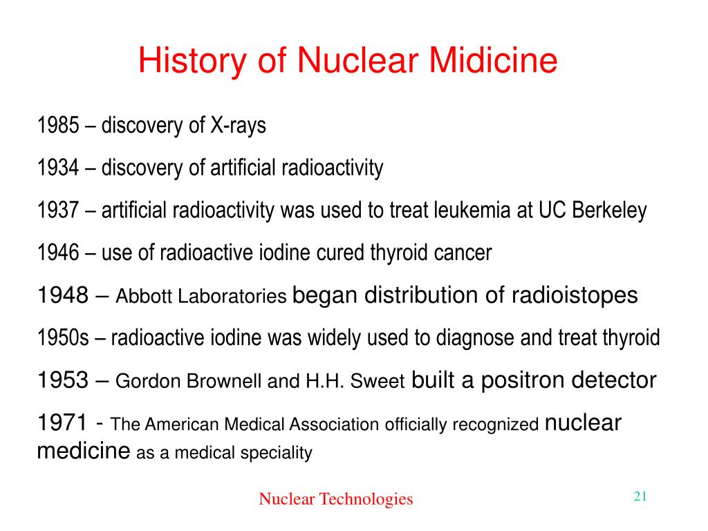 History of Nuclear Midicine