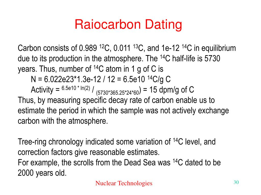Raiocarbon Dating