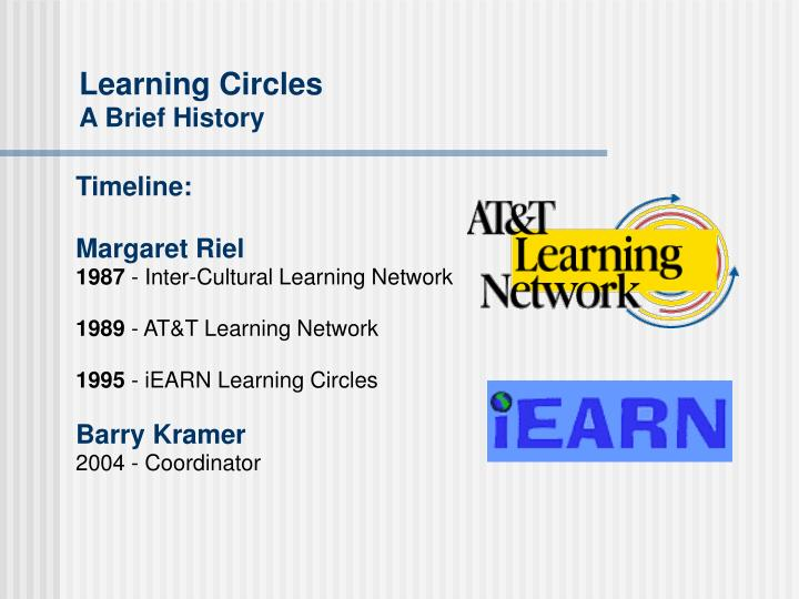Learning circles a brief history