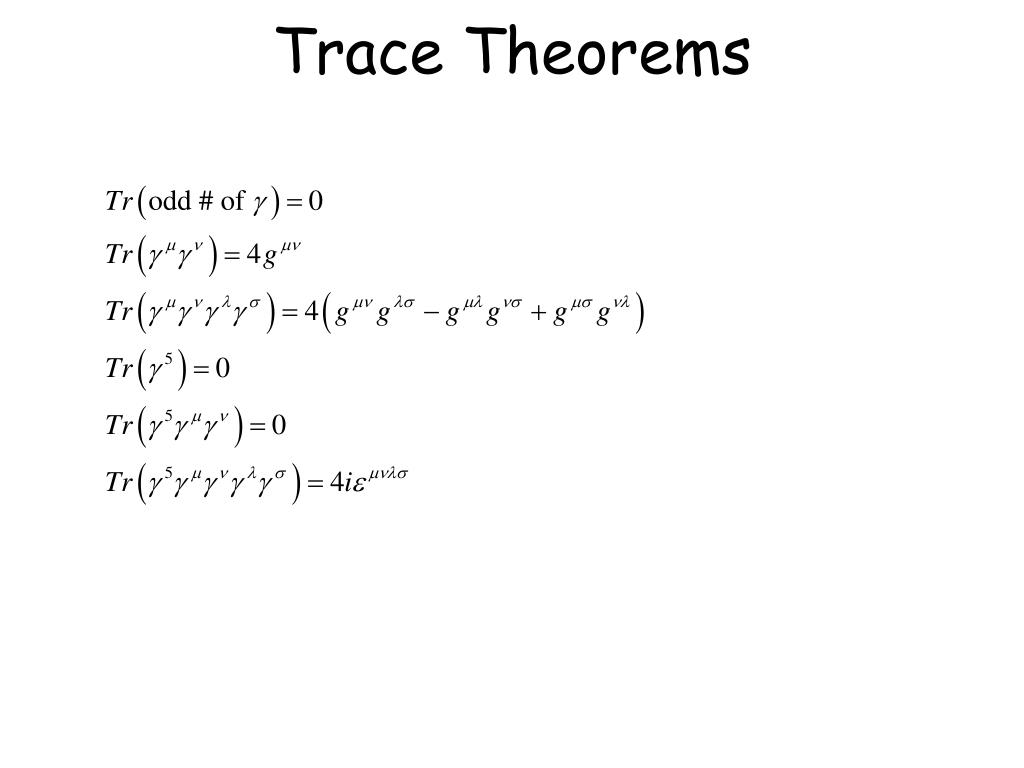Trace Theorems