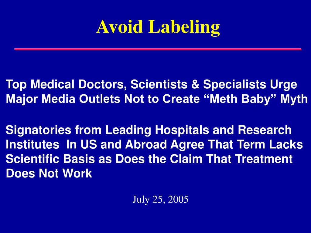 Avoid Labeling