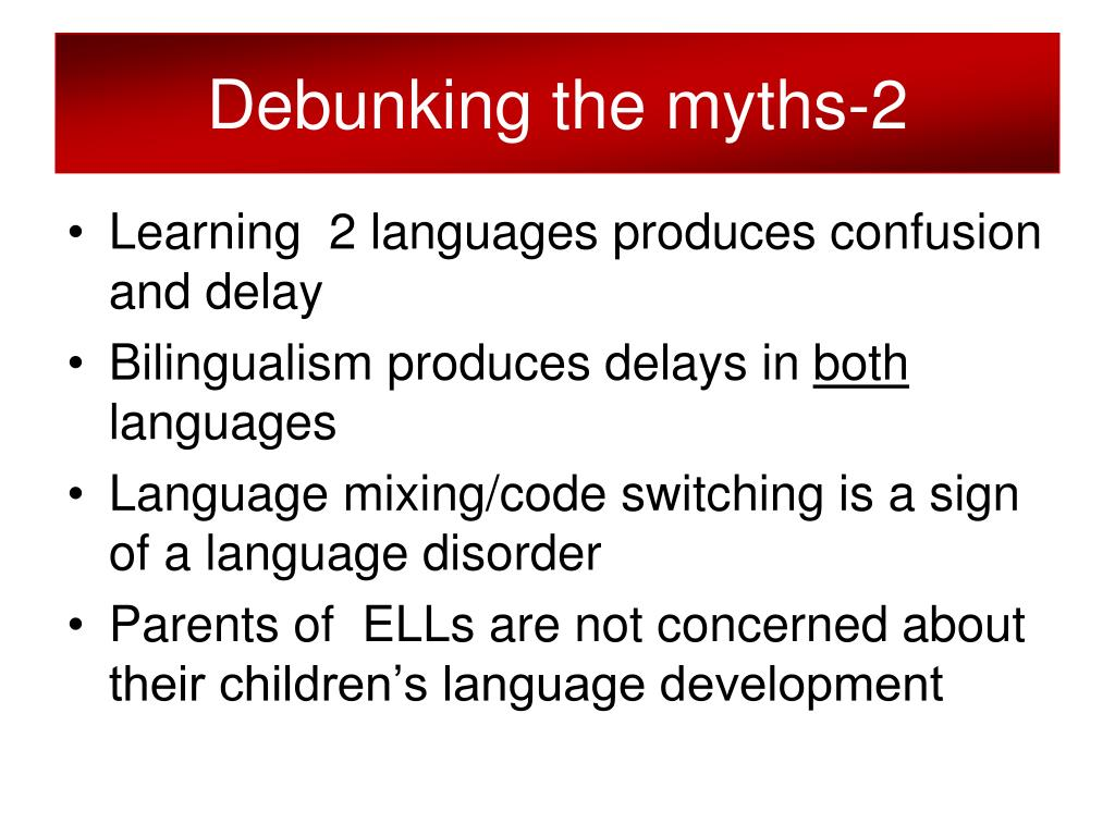Debunking the myths-2