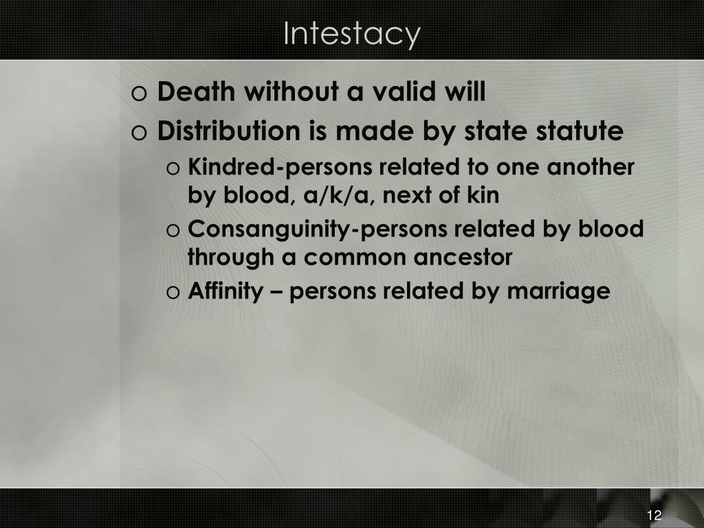 Intestacy