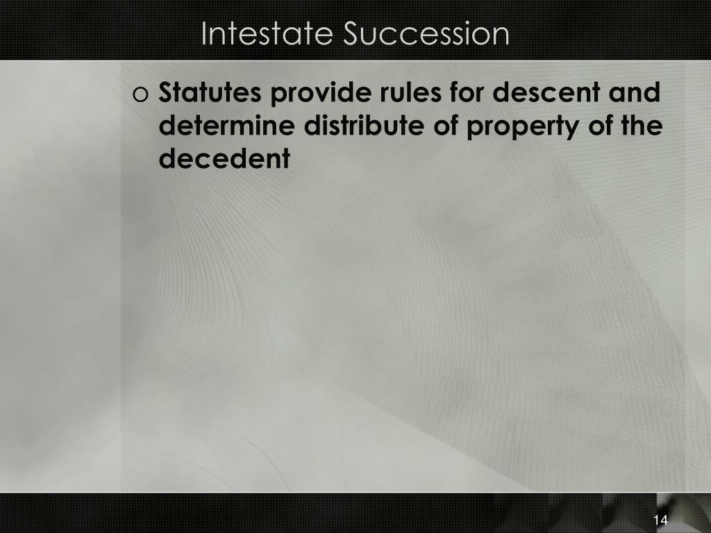 Intestate Succession