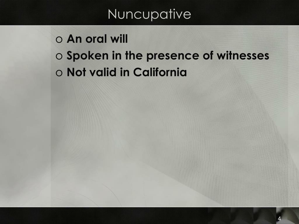 Nuncupative