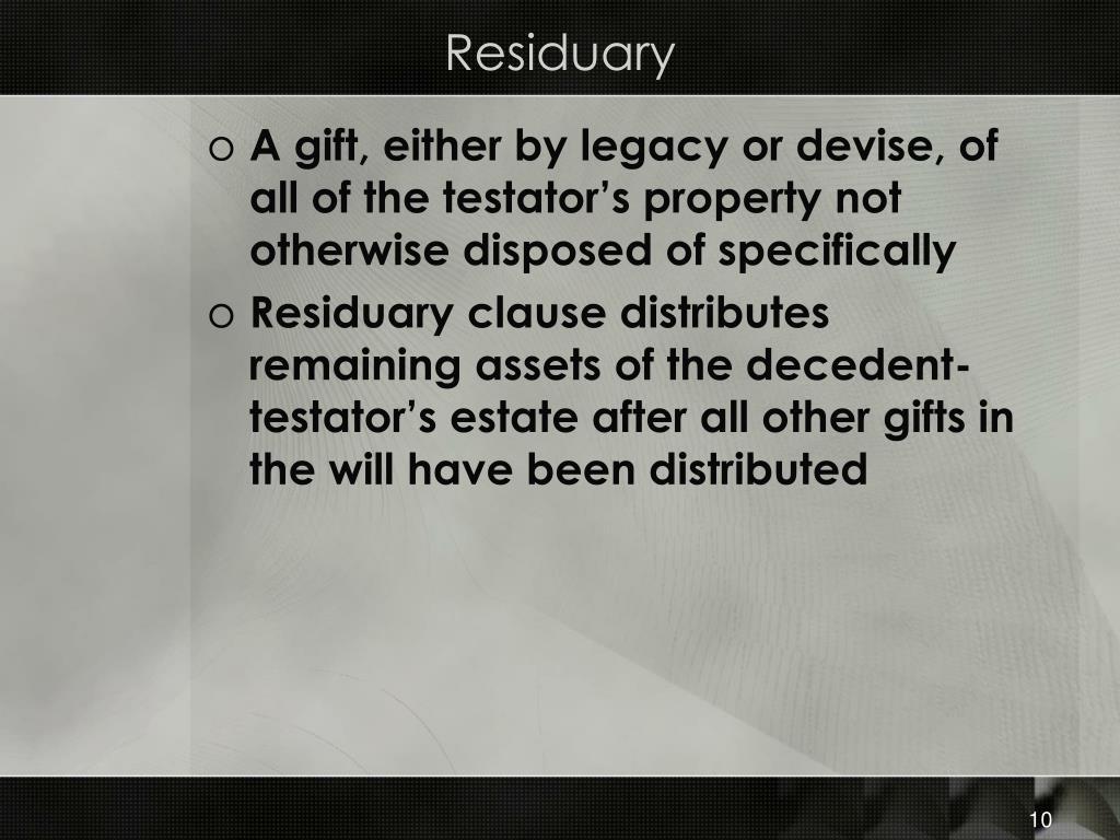 Residuary