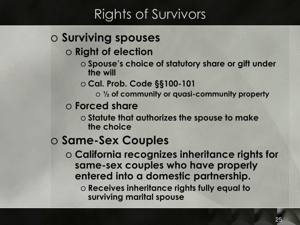 Rights of Survivors