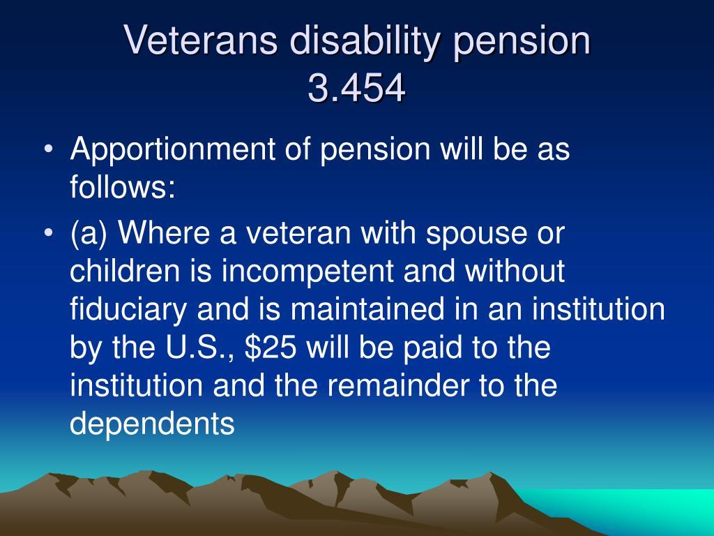 Veterans disability pension