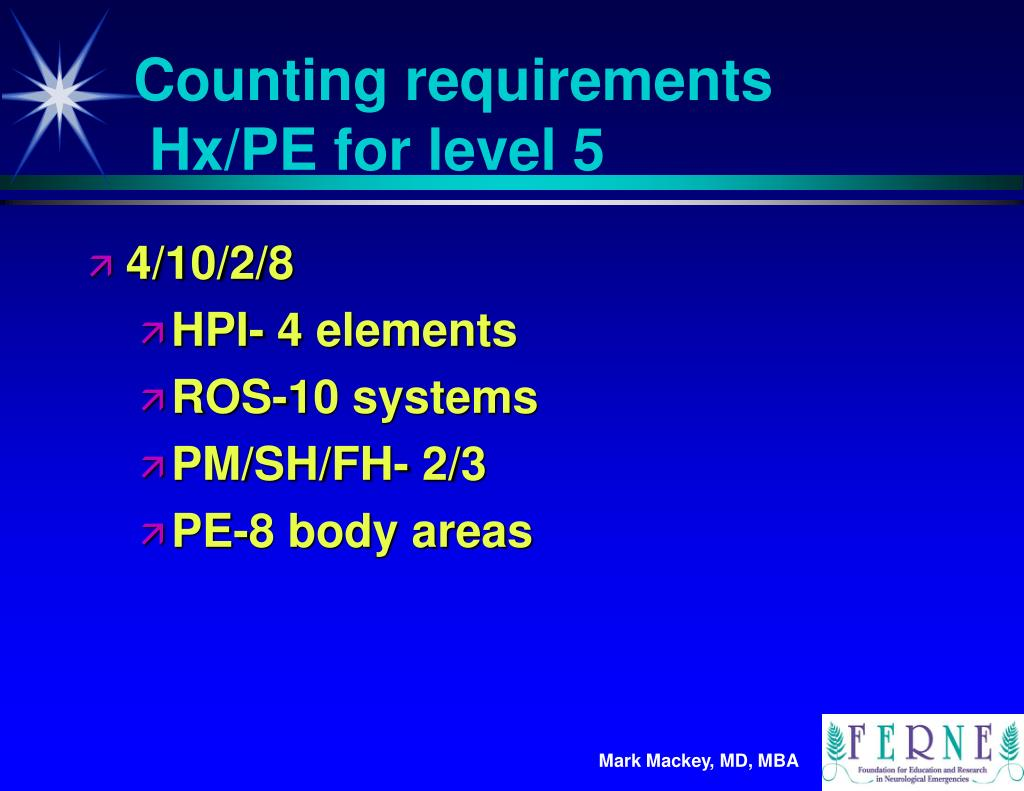 Counting requirements