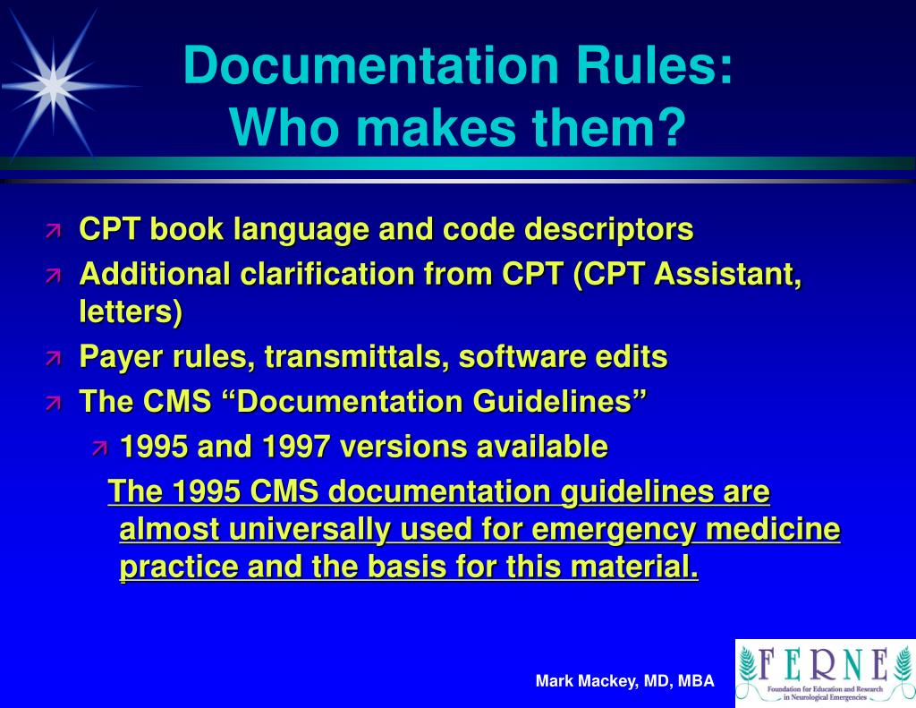Documentation Rules: