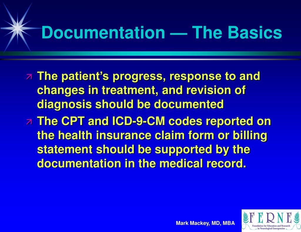 Documentation — The Basics
