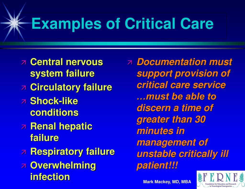 Central nervous system failure