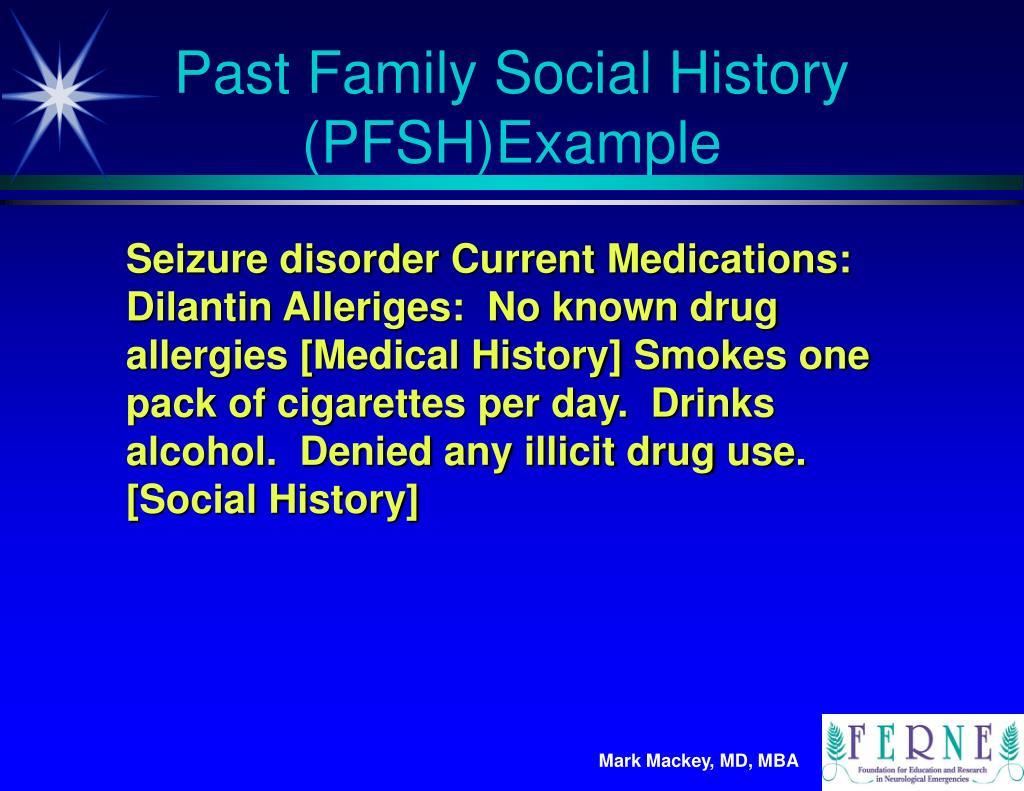 Past Family Social History