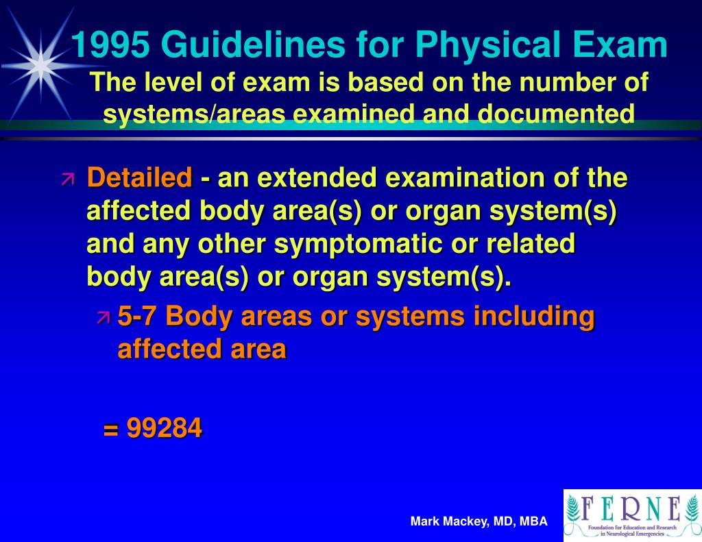 1995 Guidelines for Physical Exam