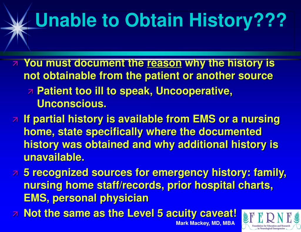 Unable to Obtain History???