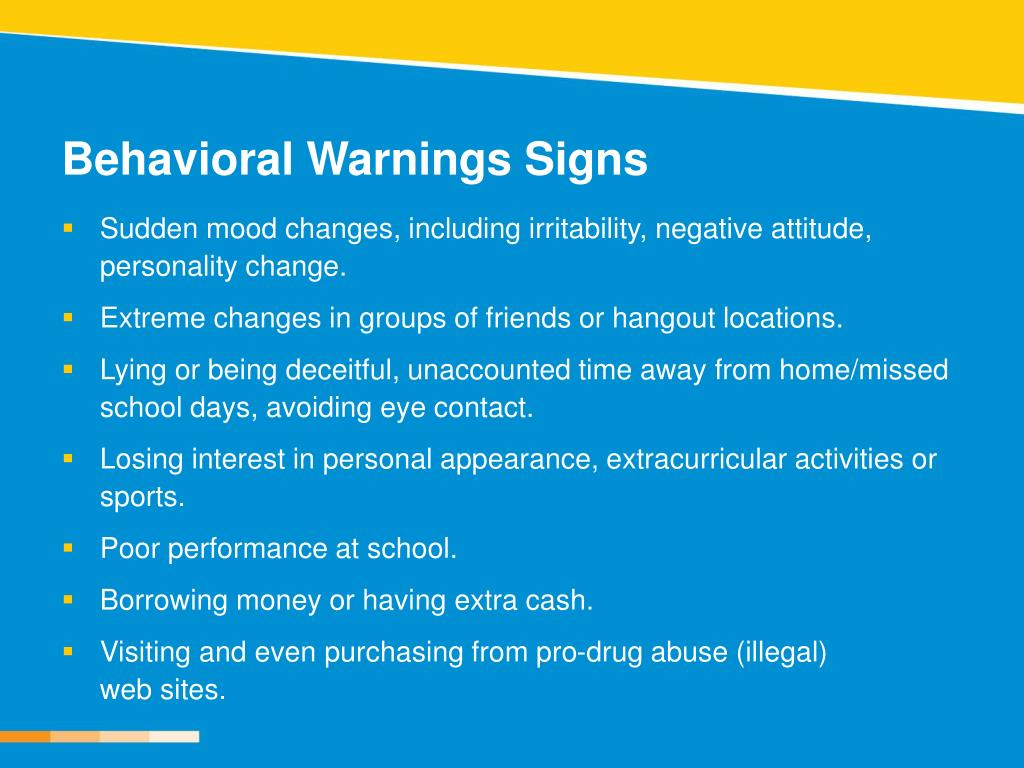 Behavioral Warnings Signs
