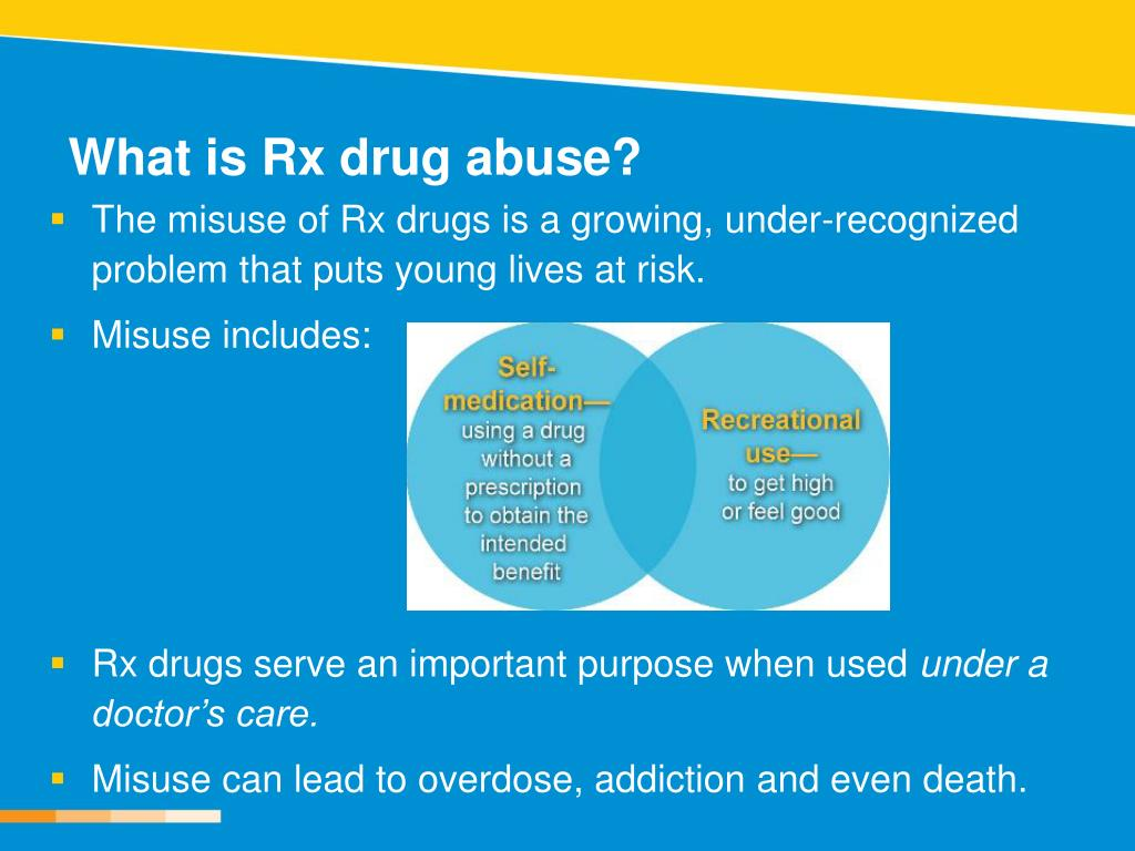 What is Rx drug abuse?