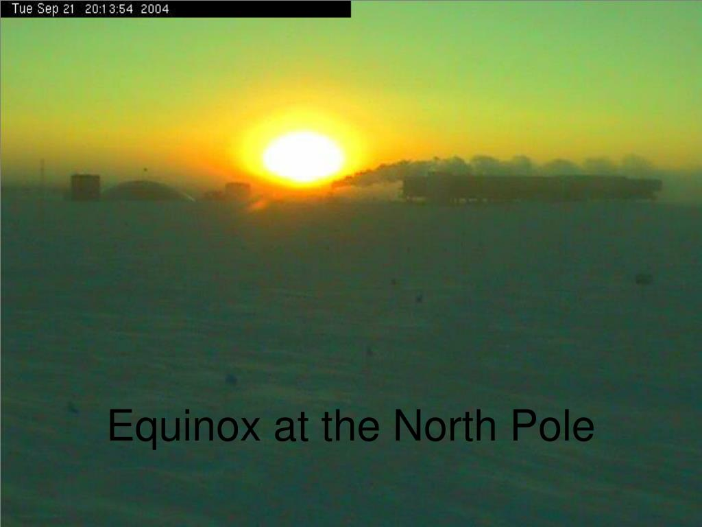 Equinox at the North Pole