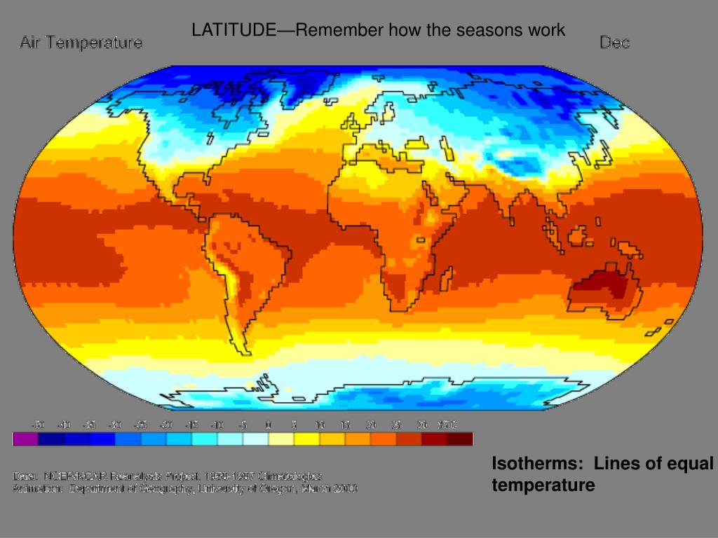 LATITUDE—Remember how the seasons work