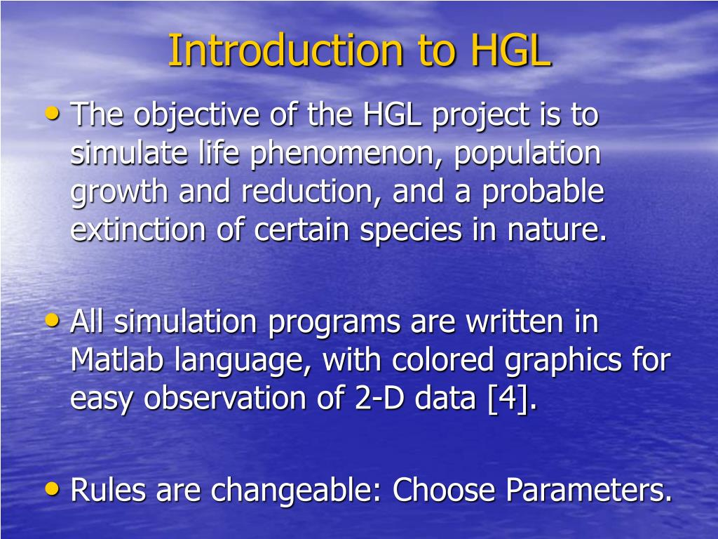 Introduction to HGL