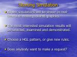 starting simulation