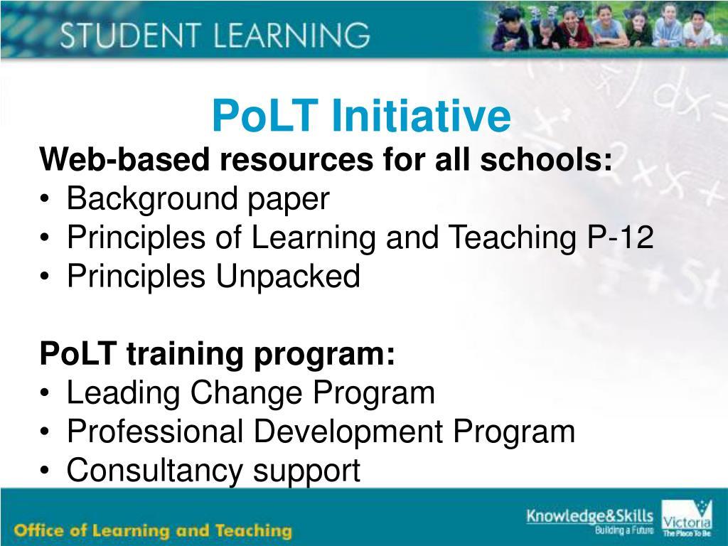 PoLT Initiative