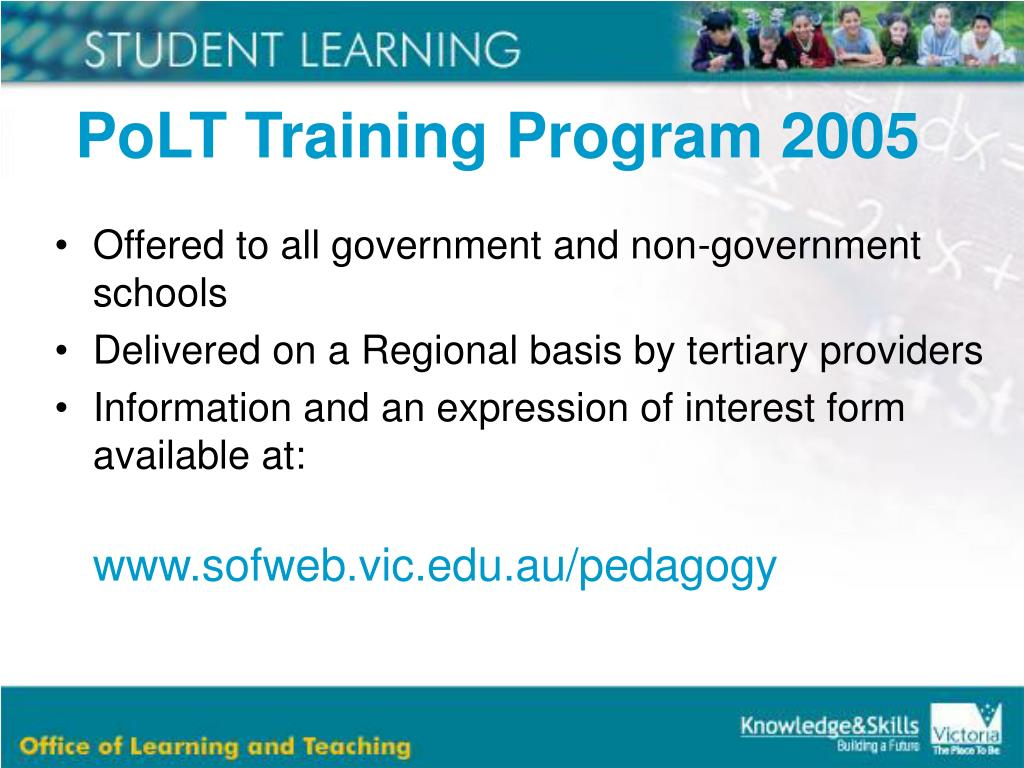 PoLT Training Program 2005