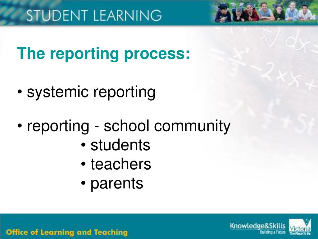 The reporting process: