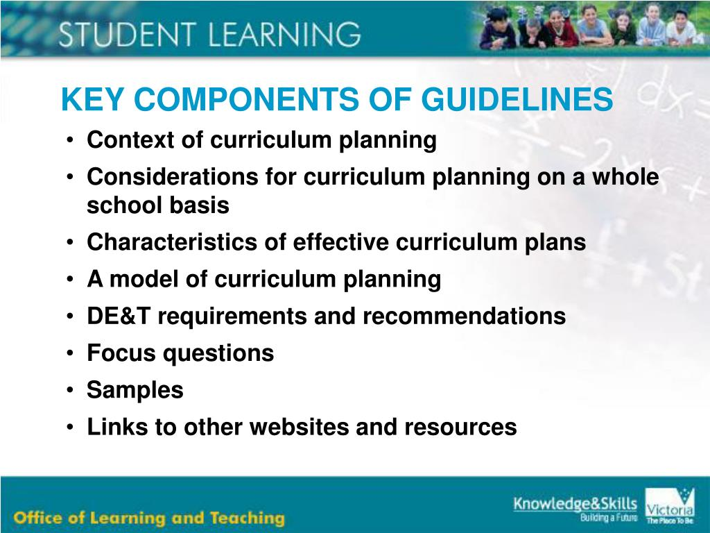 KEY COMPONENTS OF GUIDELINES