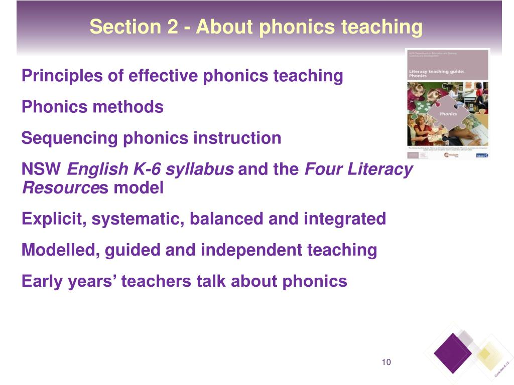 Section 2 - About phonics teaching