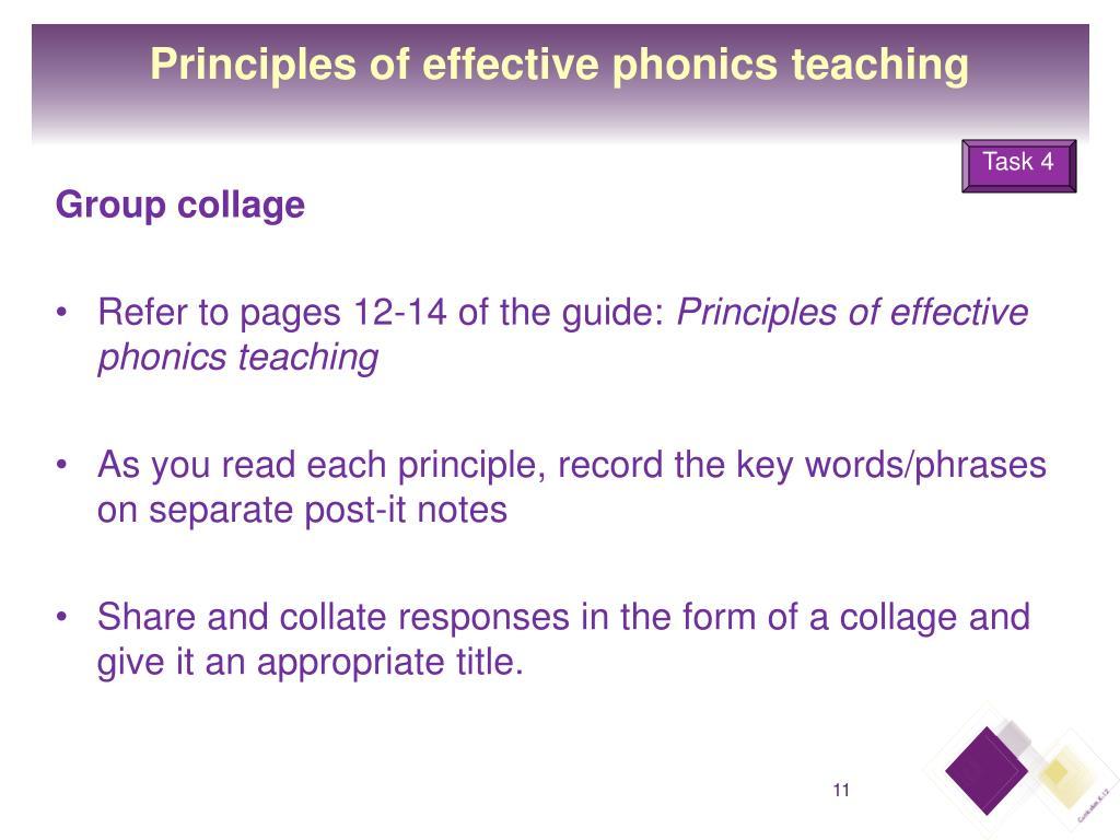 Principles of effective phonics teaching
