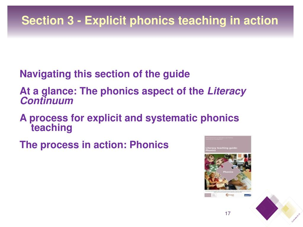 Section 3 - Explicit phonics teaching in action