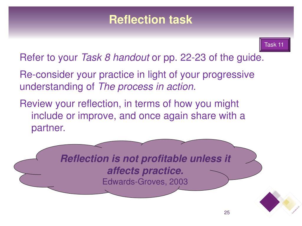 Reflection task