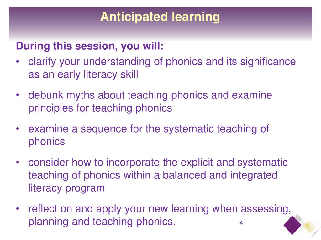 Anticipated learning